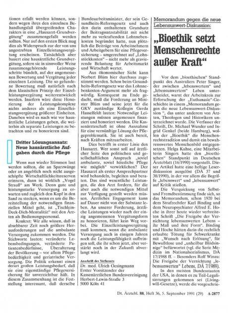 """Memorandum gegen die neue Lebensunwert-Diskussion: """"Bioethik setzt Menschenrechte außer Kraft"""""""