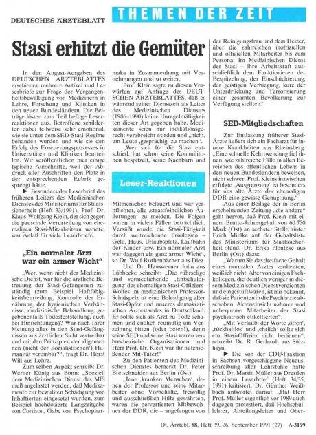 Stasi erhitzt die Gemüter