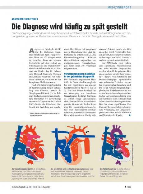 Angeborene Herzfehler: Die Diagnose wird häufig zu spät gestellt