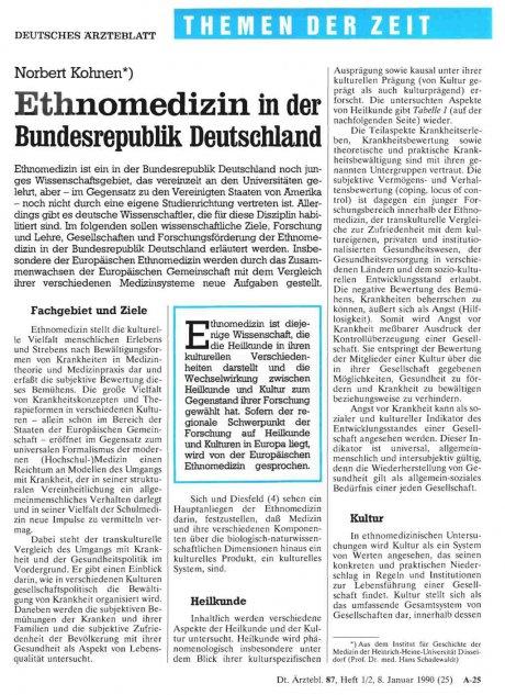 Ethnomedizin in der Bundesrepublik Deutschland