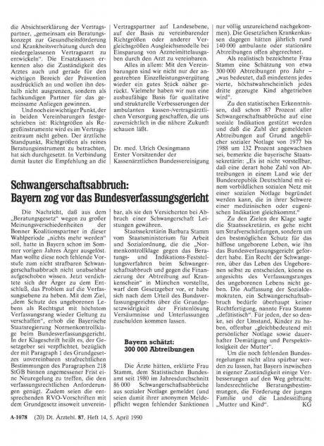 Schwangerschaftsabbruch: Bayern zog vor das Bundesverfassungsgericht