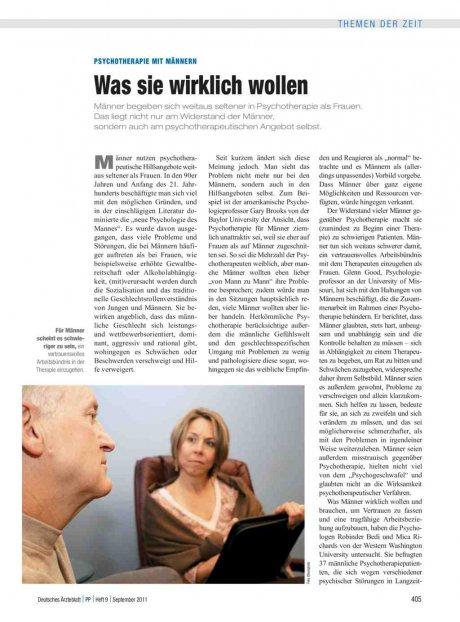 Psychotherapie mit Männern: Was sie wirklich wollen