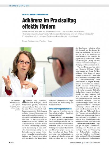 Arzt-Patienten-Kommunikation: Adhärenz im Praxisalltag effektiv fördern