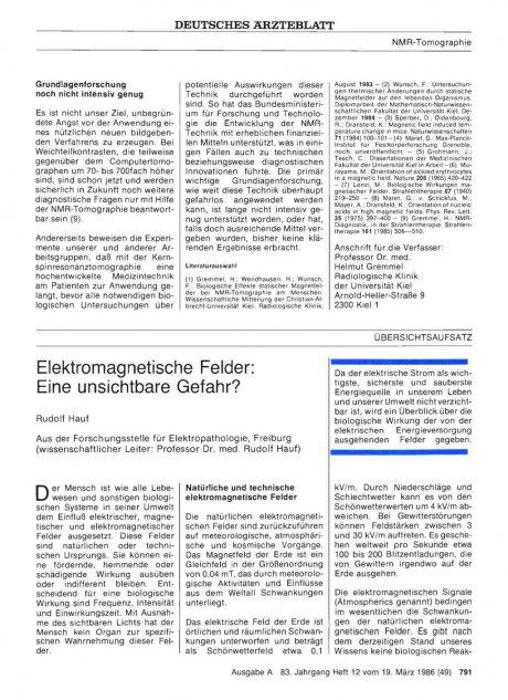 Elektromagnetische Felder: Eine unsichtbare Gefahr?