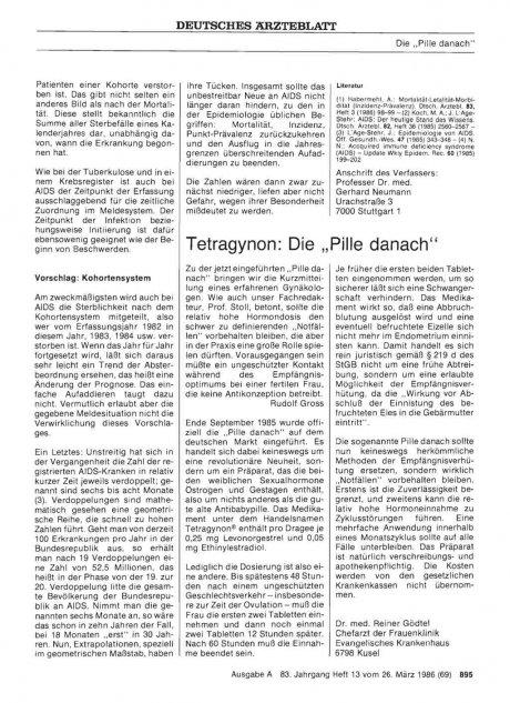 """Tetragynon: Die """"Pille danach"""""""