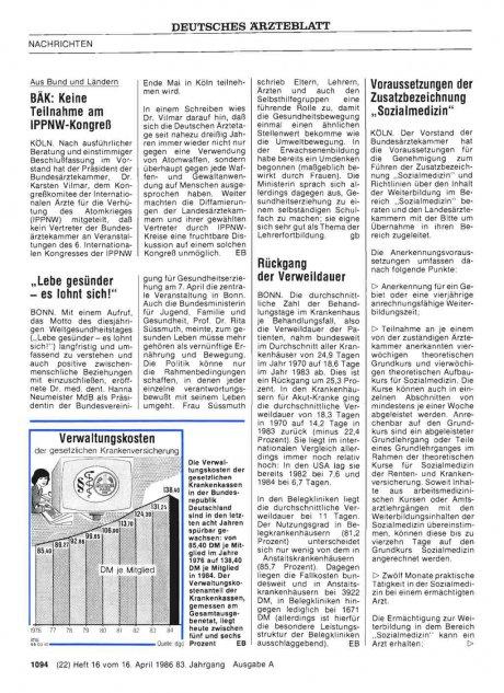 """Voraussetzungen der Zusatzbezeichnung """"Sozialmedizin"""""""