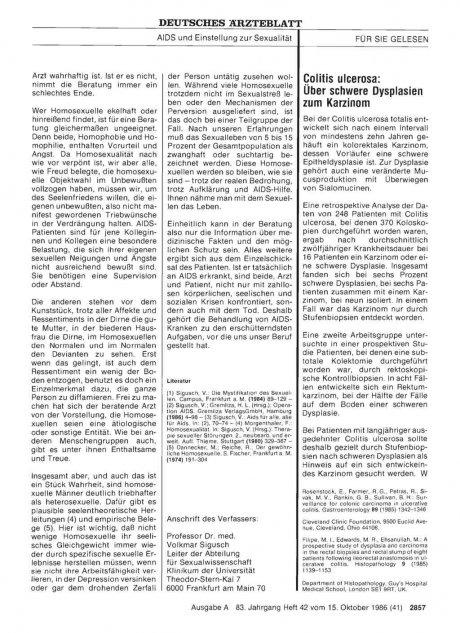 Colitis ulcerosa: Über schwere Dysplasien zum Karzinom