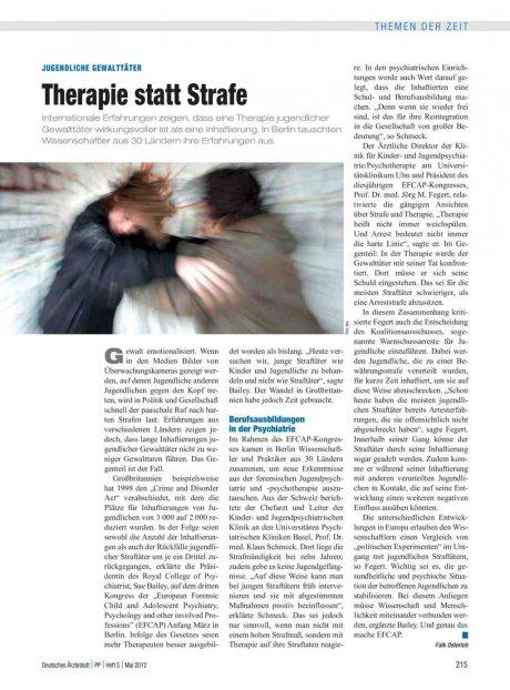 Jugendliche Gewalttäter: Therapie statt Strafe