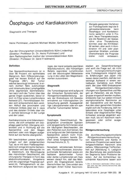 Ösophagus- und Kardiakarzinom