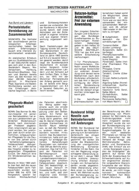 Butazon-haltige Arzneimittel: Frei zur externen Anwendung