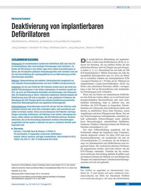 Deaktivierung von implantierbaren Defibrillatoren
