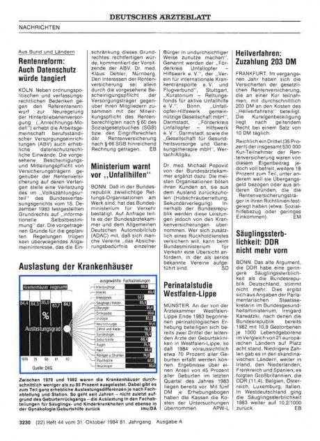 Säuglingssterblichkeit: DDR nicht mehr vorn