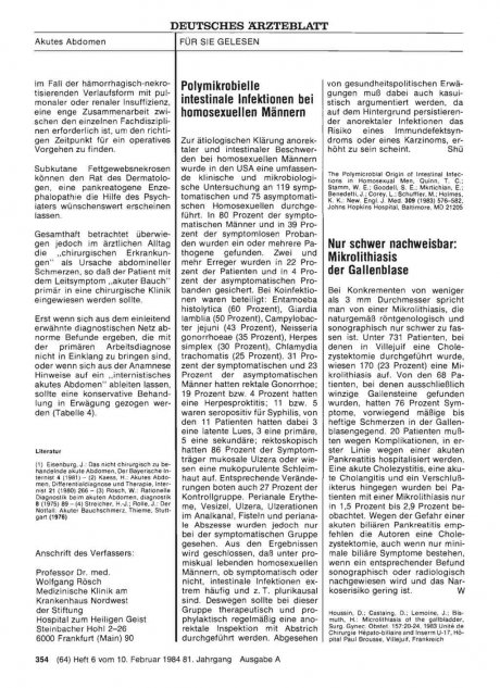 Nur schwer nachweisbar: Mikrolithiasis der Gallenblase