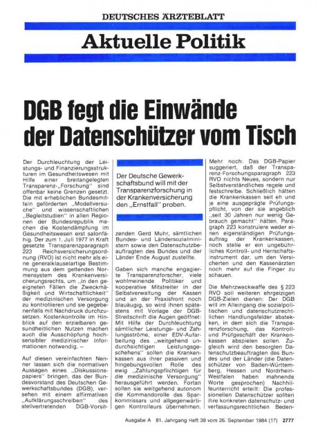 DGB fegt die Einwände der Datenschützer vom Tisch