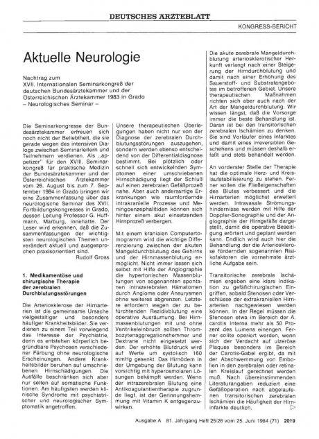 Aktuelle Neurologie