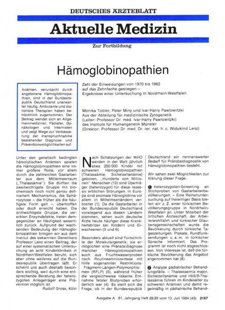 Hämoglobinopathien