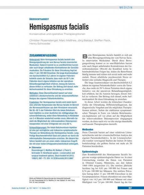 Hemispasmus facialis