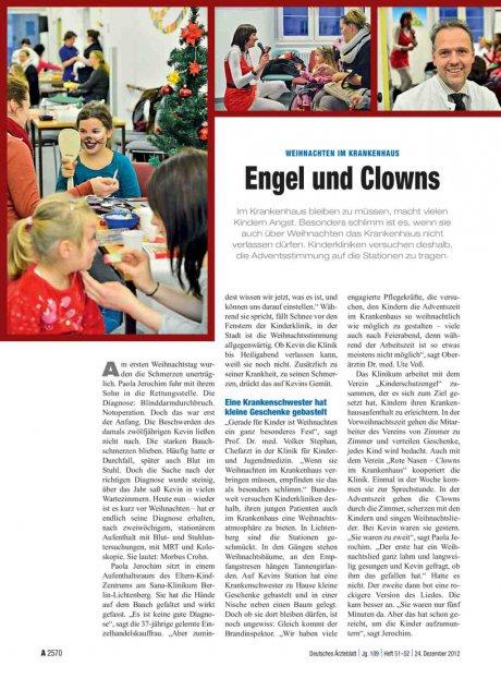Weihnachten im Krankenhaus: Engel und Clowns