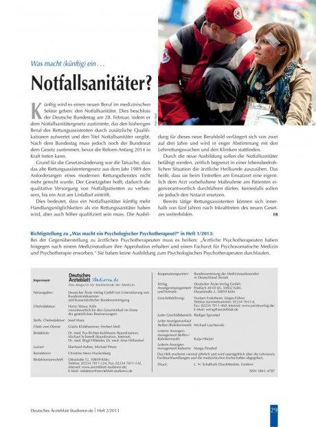 """Richtigstellung zu """"Was macht ein Psychologischer Psychotherapeut?"""" in Heft 1/2013"""