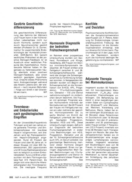 Hormonale Diagnostik der bedrohten Frühschwangerschaft