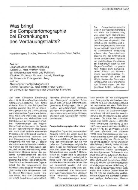 Was bringt die Computertomographie bei Erkrankungen des Verdauungstrakts?