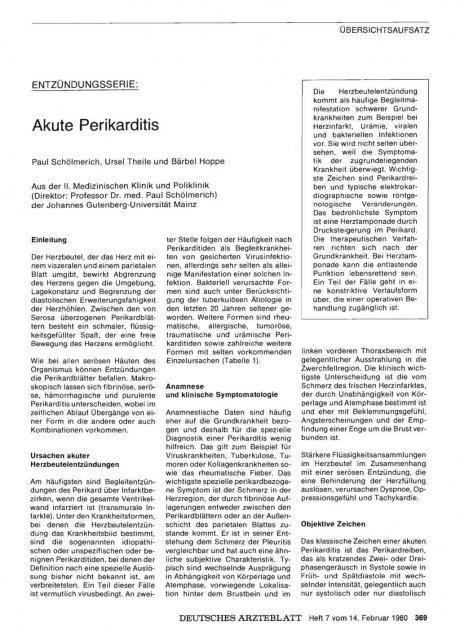 Akute Perikarditis