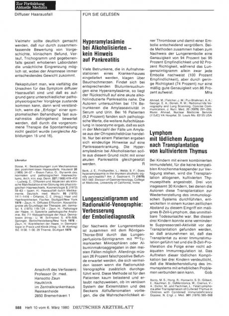 Lungenszintigramm und Radionuklid-Venographie: Verbesserung der Emboliediagnostik