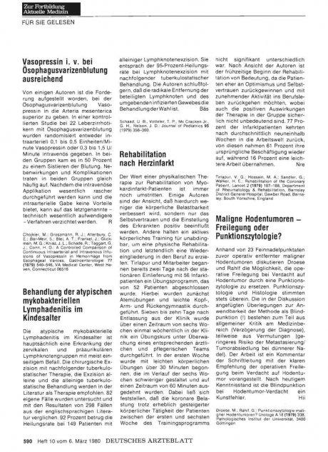 Vasopressin i. v. bei ösophagusvarizenblutung ausreichend
