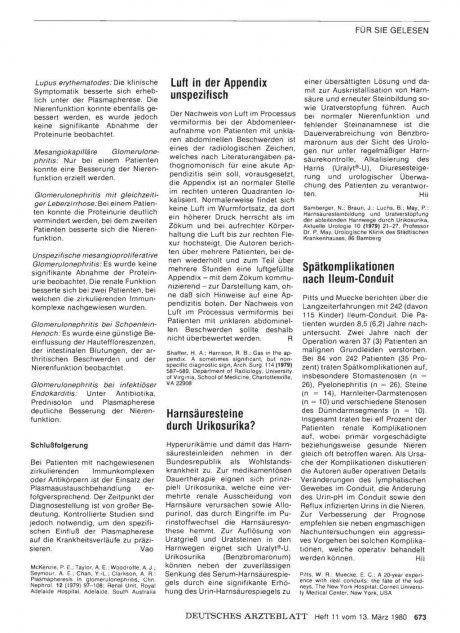 Spätkomplikationen nach Ileum-Conduit