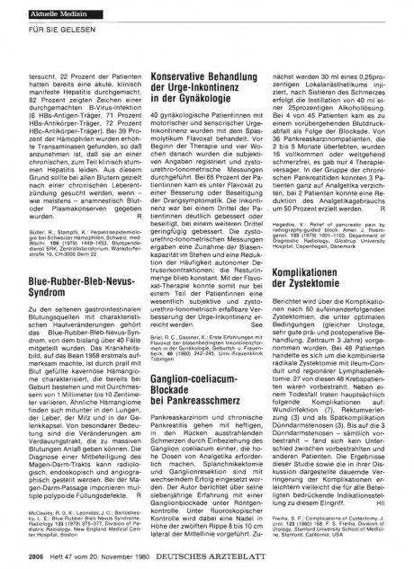 Ganglion-coeliacum- Blockade bei Pankreasschmerz