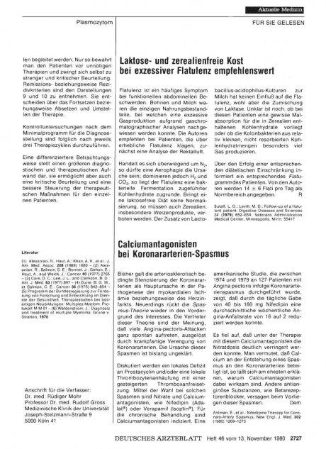Calciumantagonisten bei Koronararterien-Spasmus