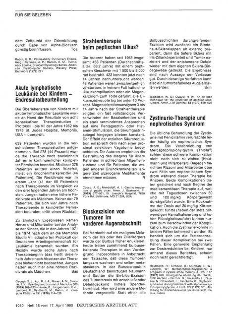 Zystinurie-Therapie und nephrotisches Syndrom