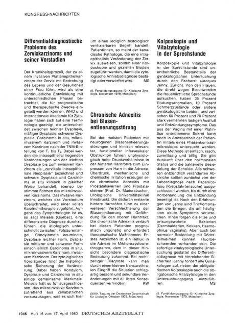 Chronische Adnexitis bei Blasenentleerungsstörung