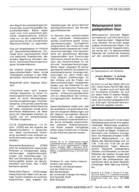Metoclopramid beim postoperativen Ileus