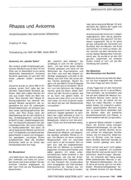 Rhazes und Avicenna: Arztphilosophen des islamischen Mittelalters
