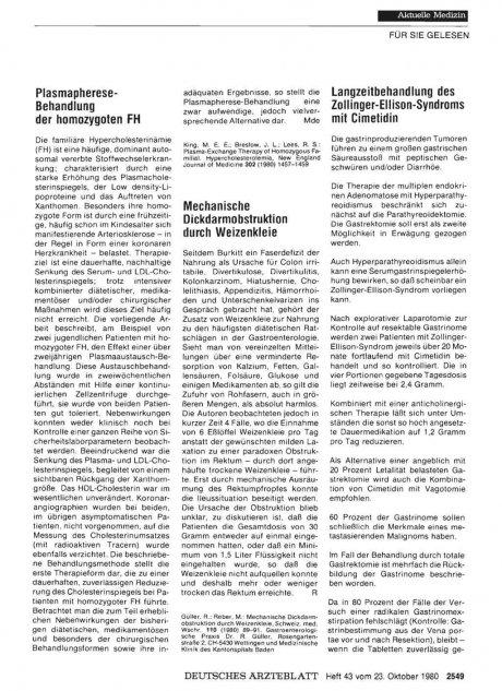 Plasmapherese- Behandlung der homozygoten FH