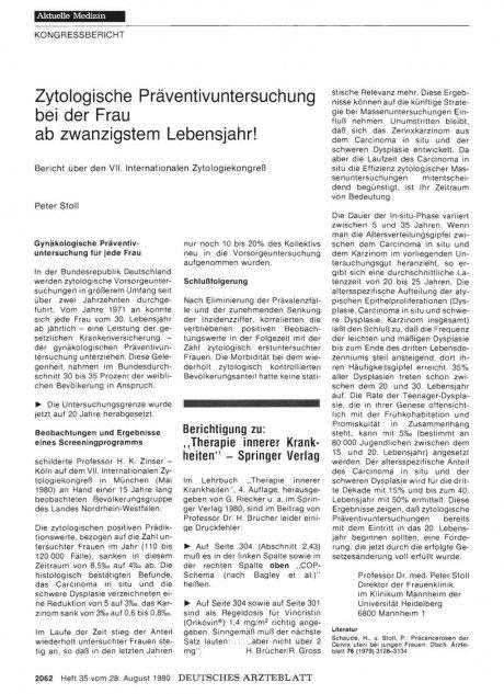 """Berichtigung zu: """"Therapie innerer Krankheiten"""" — Springer Verlag"""