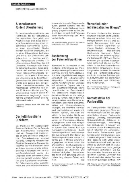 Somatostatin bei Pankreatitis