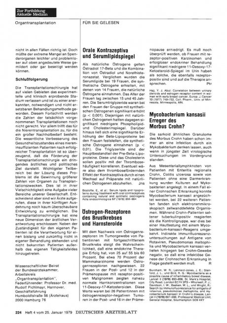 Mycobacterium kansasii Erreger des Morbus Crohn?