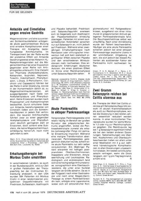 Erhaltungstherapie bei Morbus Crohn umstritten