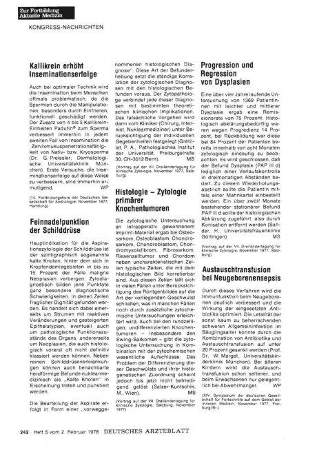 Histologie — Zytologie primärer Knochentumoren