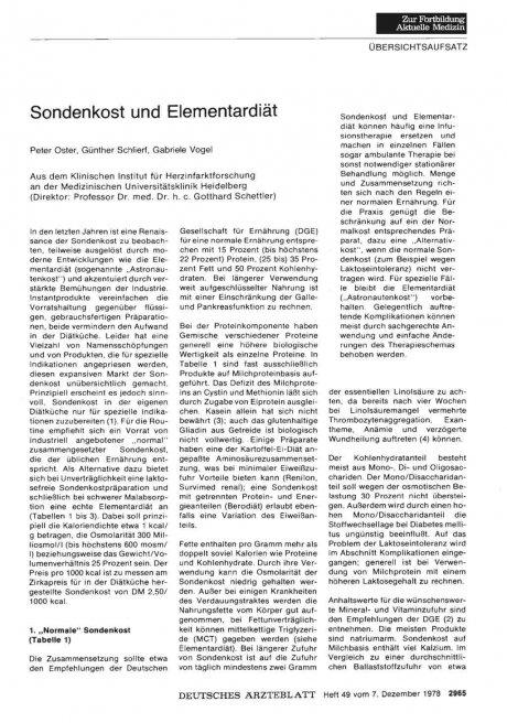 Sondenkost und Elementardiät