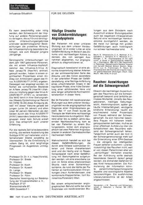 Häufige Ursache von Dickdarmblutungen: Angiodysplasie