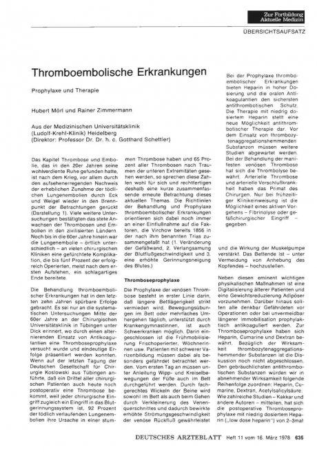 Thromboembolische Erkrankungen