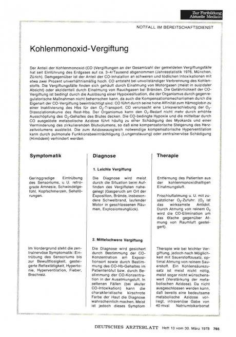 Kohlenmonoxid-Vergiftung