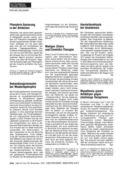 Phenytoin-Dosierung in der Ambulanz
