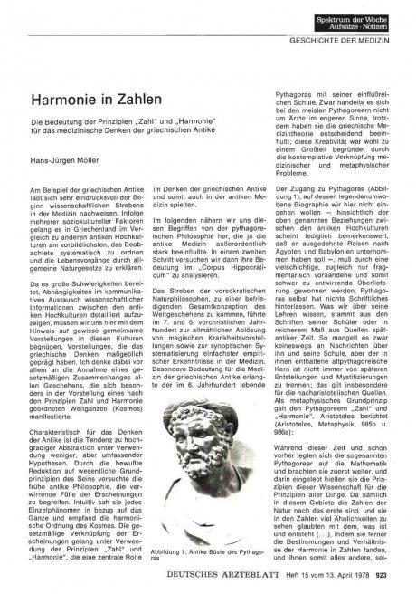 Harmonie in Zahlen