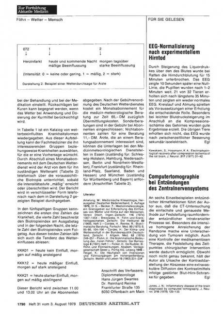 Computertomographie bei Entzündungen des Zentralnervensystems
