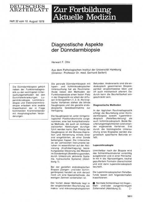 Diagnostische Aspekte der Dünndarmbiopsie