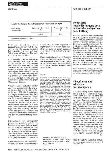Hämodialyse und urämische Polyneuropathie